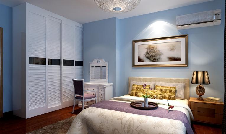 油漆 乳胶漆颜色选择技巧  蓝色种类:1,浅蓝,少量蓝加白色乳胶漆;2