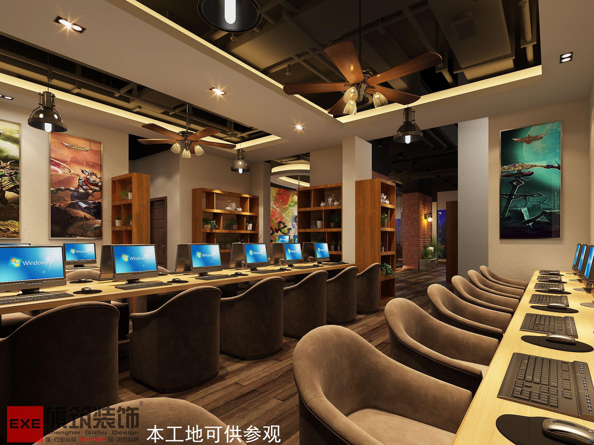 网咖设计 - 上海旗筑设计装饰庐江公司 - 装修效果图